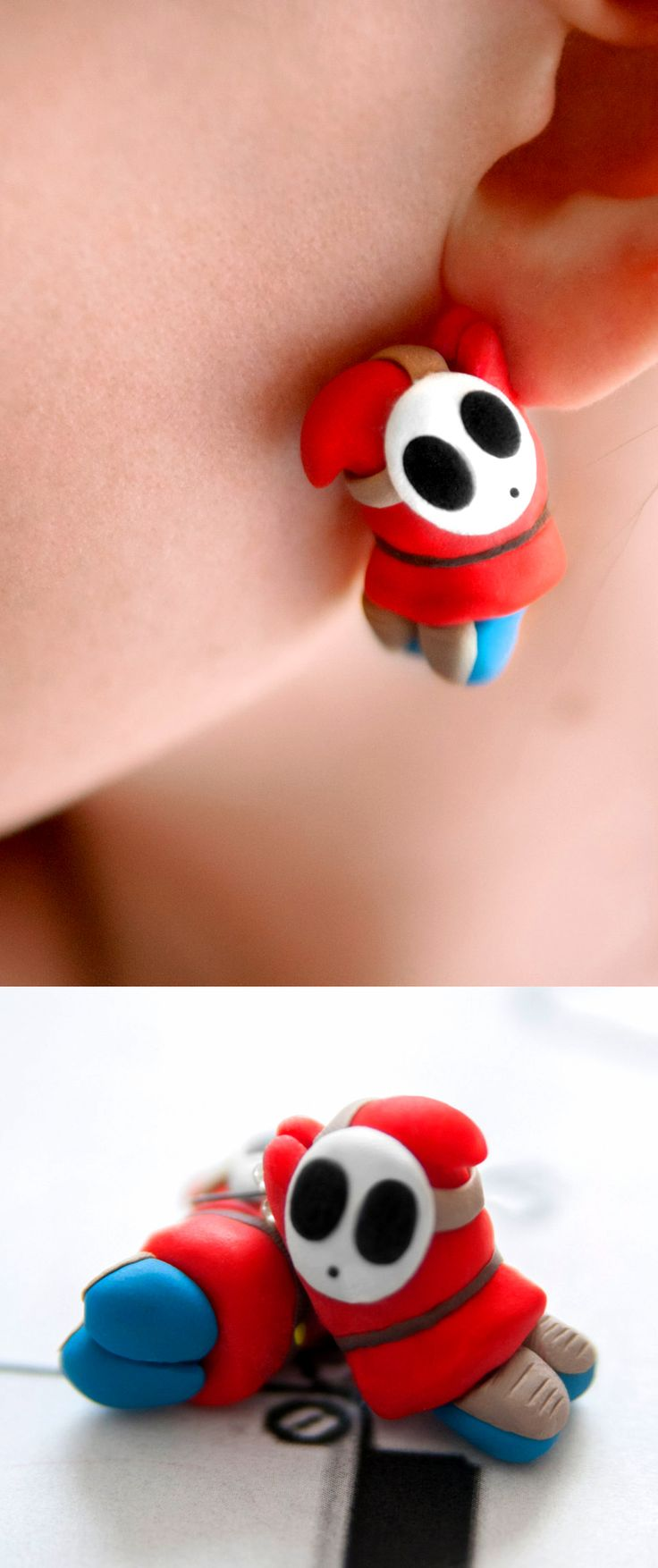 These Shy Guy earrings are a perfect example of the clumsy villain we all know…