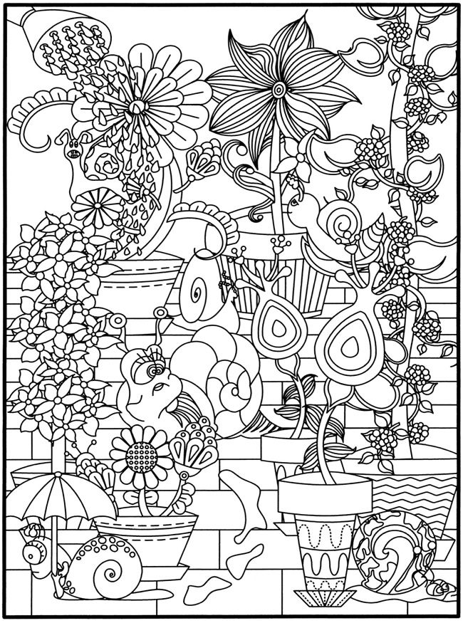 flower power coloring pages - photo#6
