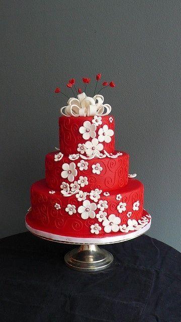 Красно белые свадебные торты - фото 5237631 Арт-кондитер Наталья Татаринова
