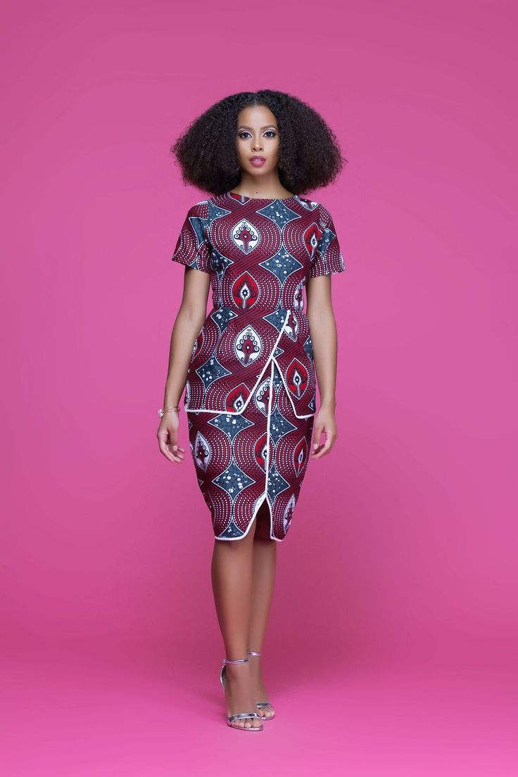 Mejores 76 imágenes de African Print Midi Dresses | Grass-fields en ...