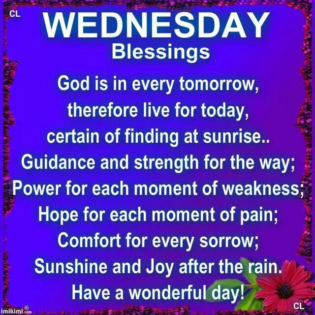 Good Morning Wednesday Blessings : Wednesday morning prayer quotes quotesgram