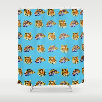 Tigers Shower Curtain by Nahal - $68.00