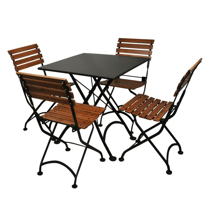 european folding chestnut wood bistro chair set of 2