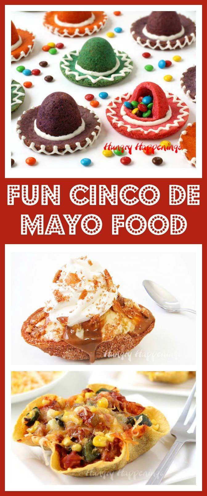 Celebrate with some festive Cinco de Mayo recipes like Sombrero Piñata Cookies, Churro Sundaes, or Enchilada Bowls. They are perfect for any Mexican fiesta.