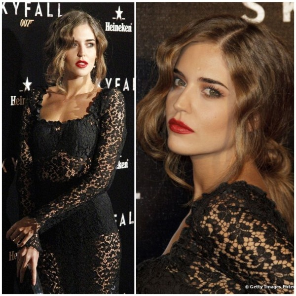 Clara Alonso - Black lace red lips
