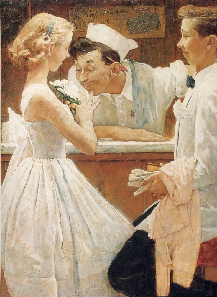 Norman Rockwell After The Prom Close Up