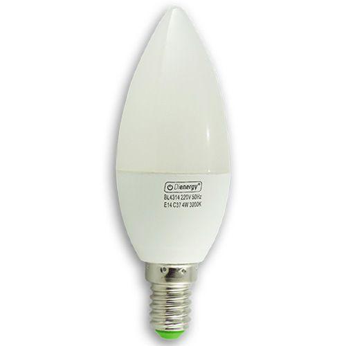 4W LED  Bulb, E14, warm white light, 3 years warranty.  4W Bec LED, E14, 220V, lumina alba calda, 3 ani garantie - 15.19 RON www.dienergyled.ro