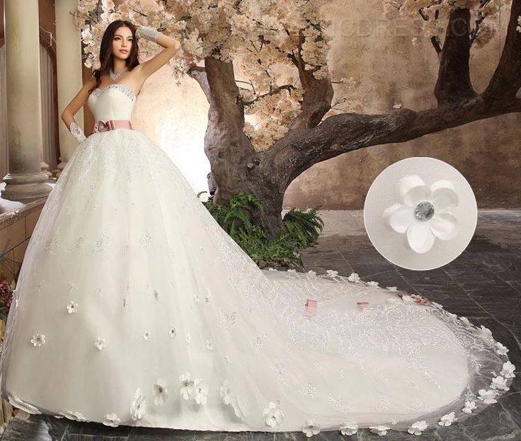Awesome Gorgeous Ball Gown Sweetheart Beading Cathedral Wedding Dress Wedding Dresses ericdress