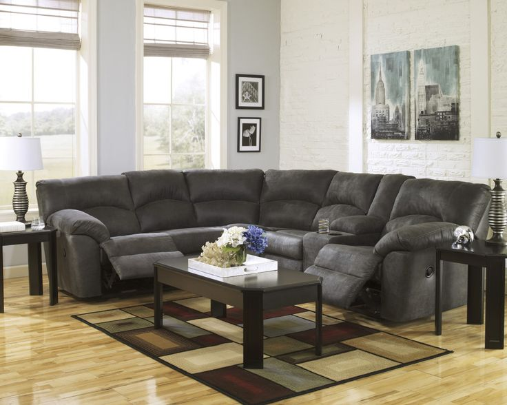 Get this beautiful Ashley Tambo 2 Piece Motion Sectional from Bestway Rent to Own today!