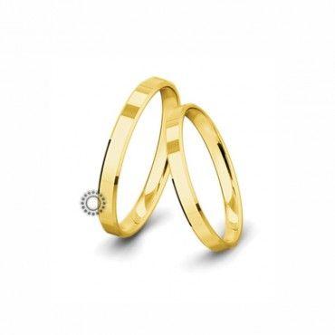Βέρες γάμου Saint Maurice Classic κίτρινος χρυσός πλάτους 3.0mm επίπεδες εξωτερικά & ανατομικές   Βέρες αρραβώνα Saint Maurice ΤΣΑΛΔΑΡΗΣ στο Χαλάνδρι #SaintMaurice #βερες #γαμου #χρυσος #rings
