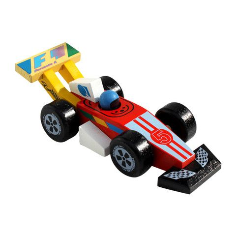 Wooden Toy F1 Racing Car