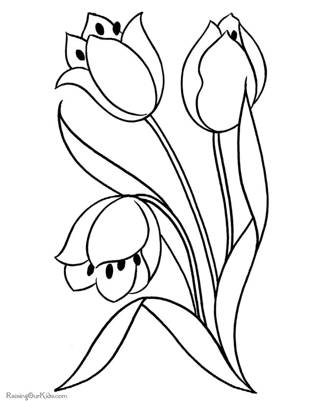 flower Page Printable Coloring Sheets | Free printable flowers coloring pages