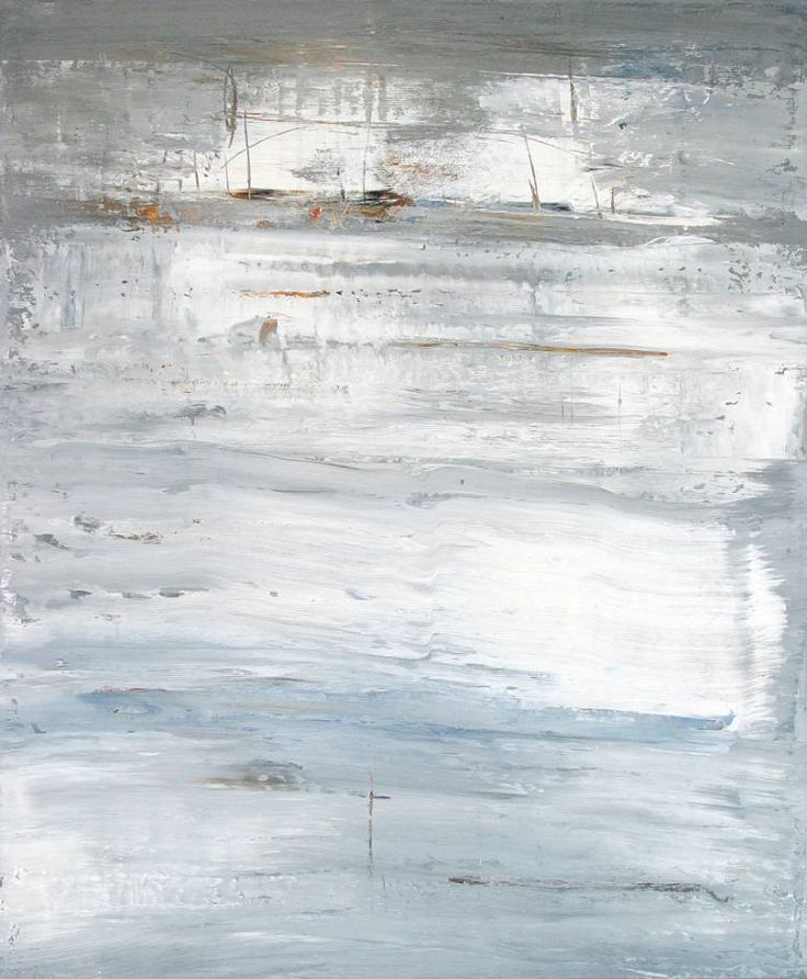 Buy RB769, a Acrylic on Canvas by Radek Smach from Czech Republic. It portrays: Abstract, relevant to: sky, snow, winter, layered painting, contemporary, expressionism, abstract, grey, ice, landscape, minimalism, modern Original abstract layered painting on canvas.  Ready to hang. No framing required (it can be framed).  The sides of the painting are painted deep indigo blue.