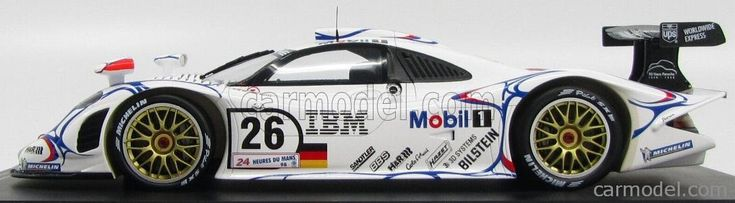 SPARK-MODEL 18LM98 Escala 1/18  PORSCHE 911 GT1-98 TEAM PORSCHE AG MOBIL 1 N 26 WINNER 24h LE MANS 1998 A.McNISH - L.AIELLO - E.ORTELLI WHITE BLUE RED