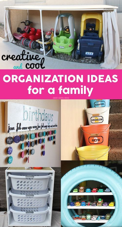 Organization Ideas for a Family