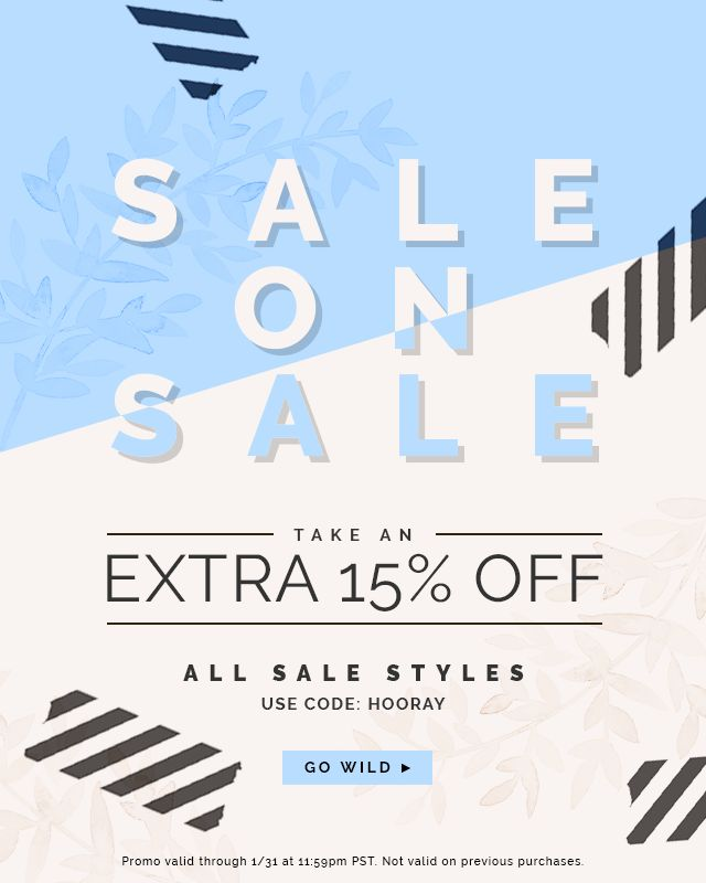 It's a sale on sale extravaganza!! We're clearing out the shop to make way for new Spring picks which means you get to take 15% off of already marked down items! // Use code HOORAY