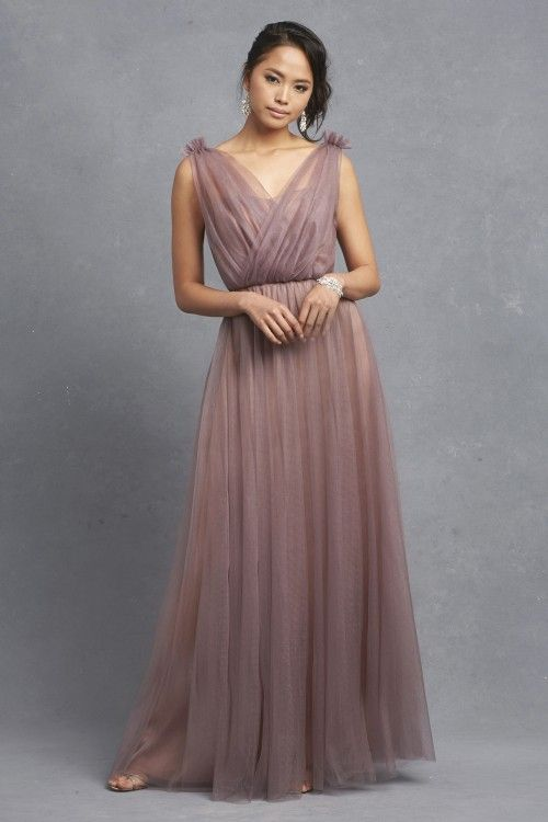 Gorgeous lilac gray bridesmaid dress | Donna Morgan on @dressforwedding