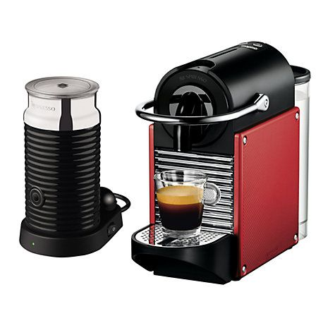 buy nespresso pixie carmin coffee maker and aeroccino by. Black Bedroom Furniture Sets. Home Design Ideas