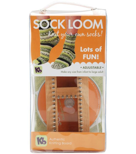 Knitting Board Sock Loom--what??  How cool!!  If my kids can make rainbow loom, they can start making socks too :).