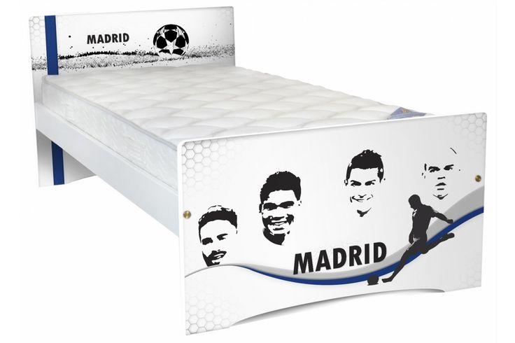 Lit enfant Football 90x190 cm Europe bois Abc-meubles.com