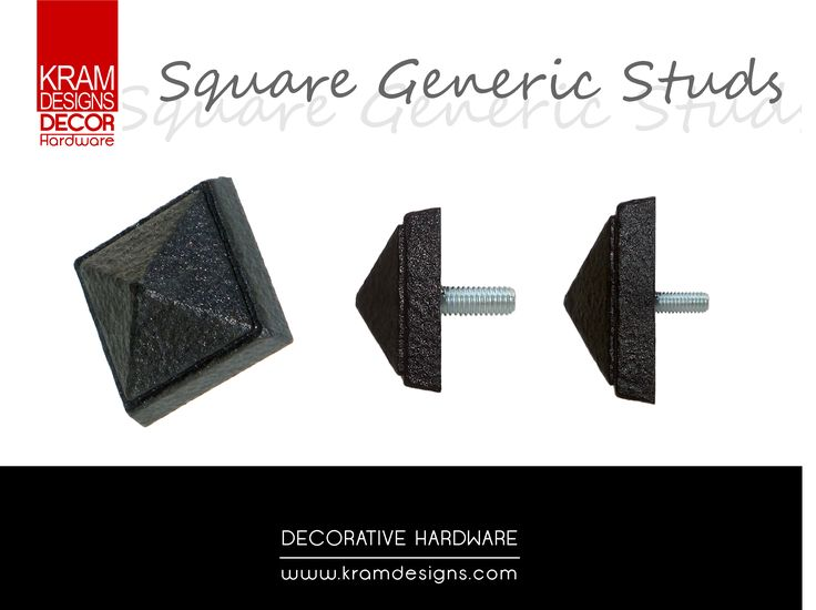 Square Generic stud collection from Kram Designs Decor Hardware. www.kramdesigns.co.za