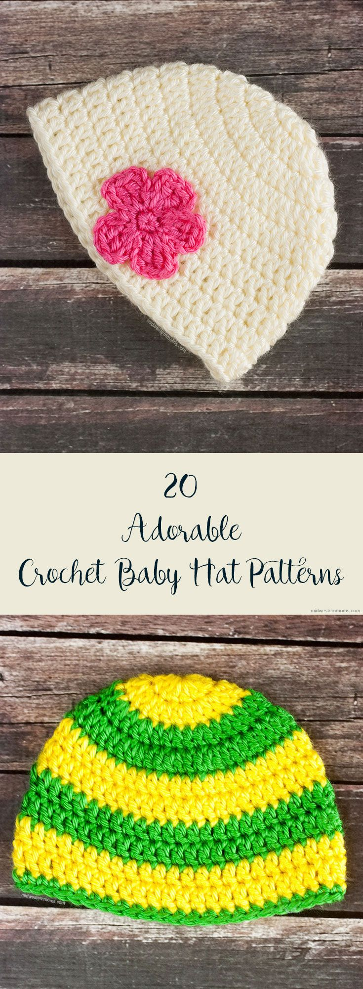 20+Adorable+(and+Free)+Crochet+Baby+Hat+Patterns
