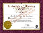 Ordination Package This package contains the official, legal ordination credentials verifying your status as a minister of the Universal Life Church Monastery.
