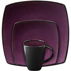 Gibson Soho Lounge Square 16-piece dinnerware set Purple D970-80441.16