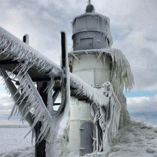 8 Phenomenal Frozen Michigan Lighthouses from our Fans: Frozen Michigan, Frozen Lighyous, Michigan Blog, Fans, Michigan Lighthouses, Phenomen Frozen, Lighthouses Photo, Lakes Michigan, Pure Michigan