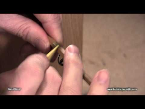 Hand Wrapping Guides on Bamboo Fly Rods.mpg - YouTube