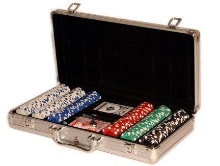Set of 300 Dice Striped 11.5 Gram Poker Chips with 6 Dealer Buttons by Shabha Enterprises. $34.99 #money #poker
