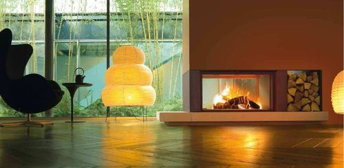 contemporary double-sided fireplace (wood-burning closed hearth) GAUDI MCZ