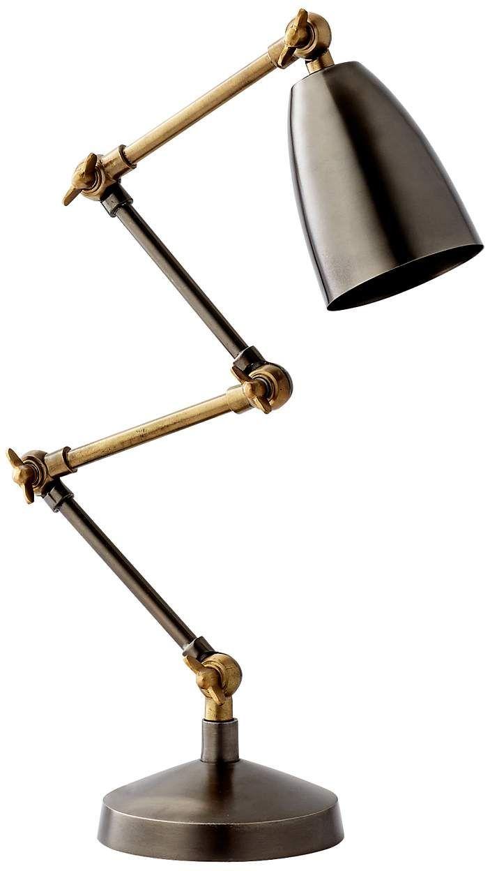 Cyan Angleton Adjustable Desk Lamp #7X143 | Lamps Plus