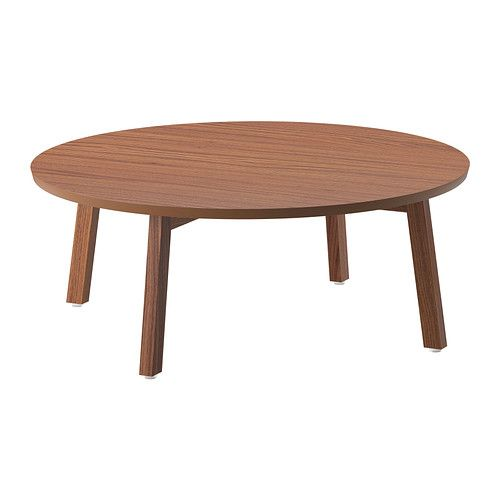 IKEA STOCKHOLM Coffee table Walnut veneer 93 cm The table surface in walnut veneer and legs in solid walnut give a warm, natural feeling to your room.