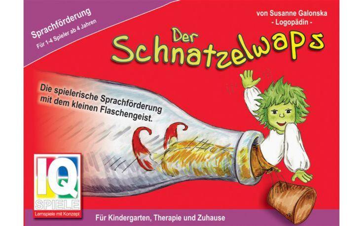 DER SCHNATZELWAPS Educatief spel om de taalvaardigheid te stimuleren. De kinderen leren het onderscheid en het benoemen van voorgrond en achtergrond als belangrijke basisvaardigheid in de vroege spraakontwikkeling.