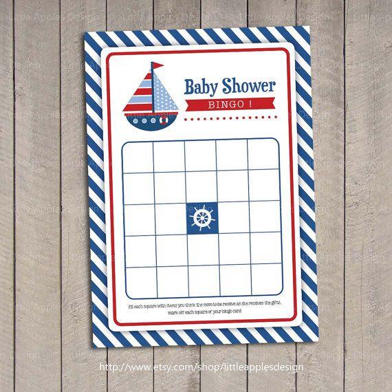 baby shower games for boys bingo