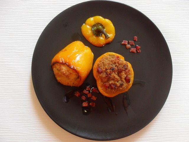 Peperoni ripieni di amaranto o cous cous/  Amaranth stuffed  peppers