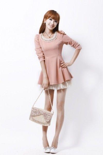 Baju Import Dress DS2905-Pink