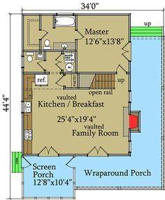 Plan 92319MX: Flexible Mountain Cottage
