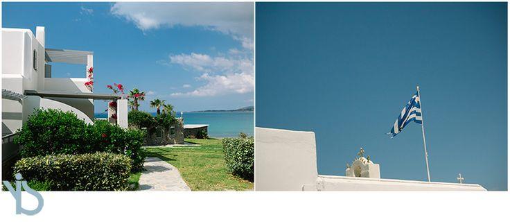 Catholic wedding in Paros island