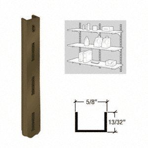 "C.R. LAURENCE 3328824 CRL KV Brown 80 Series 24"" Heavy-Duty Steel Standard by C.R. Laurence. $6.05. High Quality, High Strength Steel Components for Decorative or Utility Uses These American made shelf brackets and standards have been the choice of the glazing, hardware and decorating industries for more than 60 years. KV steel standards and brackets make building shelf units easy. Versatility and flexibility of design, and high quality precision fitted pieces make ..."