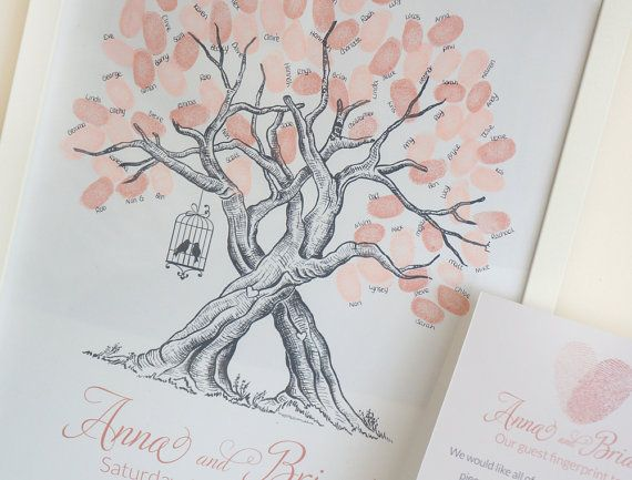Custom Wedding Fingerprint Tree with by TheLittleTouchesUK