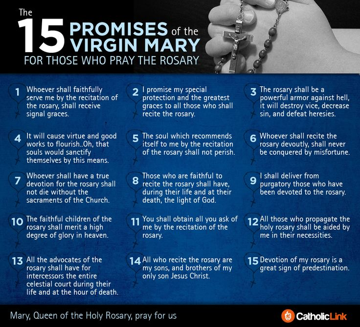 15 Promises of the Virgin Mary for those who pray the Rosary #catholic #rosary