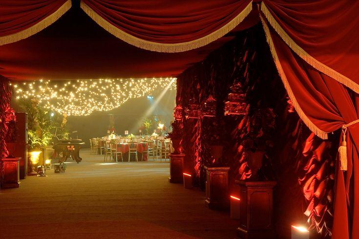 Best Fabric Ceiling Swags Red Cabaret Amp Velvet Drapes