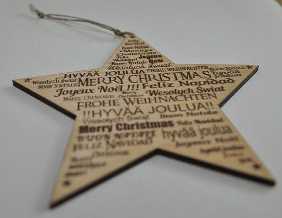 Star with MERRY CHRISTMAS in a several language by MaduuDesign