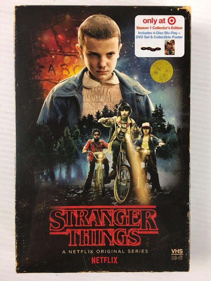Netflix Stranger Things Season 1 4Disc DVD/BluRay