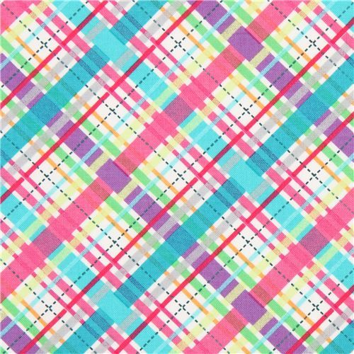 """'Lil' Bias Plaid' by Michael Miller collection """"Cute Zoo"""""""
