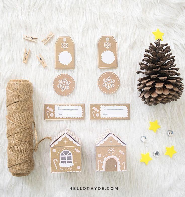 Mejores 60 imágenes de Imprimibles navideños en Pinterest   Fiesta ...