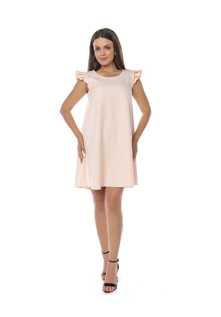 https://i-haine.ro/rochii/197-rochie-din-jerseu-pe-croiala-lunga-si-volanase.html Rochie din jerseu pe croiala lunga si volanase. Rochie confecționată din jerseu, pe o croială largă, în formă de A. Este perfectă pentru sezonul călduros vară și prezintă volănașe crețe, aplicate pe umeri, datorită cărora această rochie este una specială.