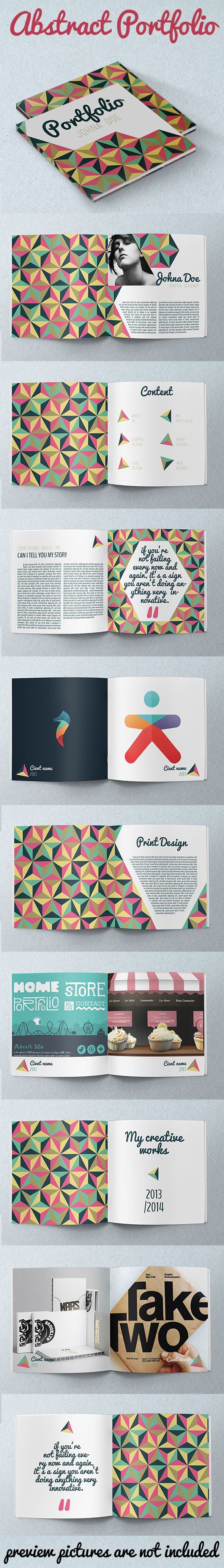 Abstract Portfolio Brochure by crew55design , via Behance